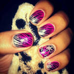 Pink and Silver Ombre Gradient Zebra