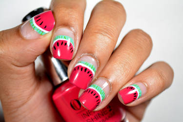 Watermelon Slice French by FatimattiDesigns