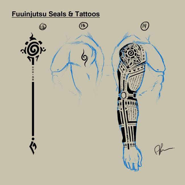 Hyuuga Roku Fuuinjutsu SealsTattoos By Daveartwork On DeviantArt