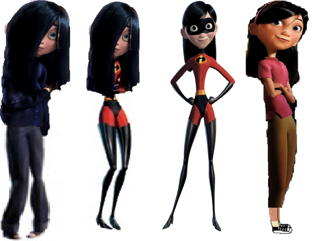 how to draw violet from the incredibles