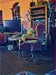 livingroom of an artist LWVice