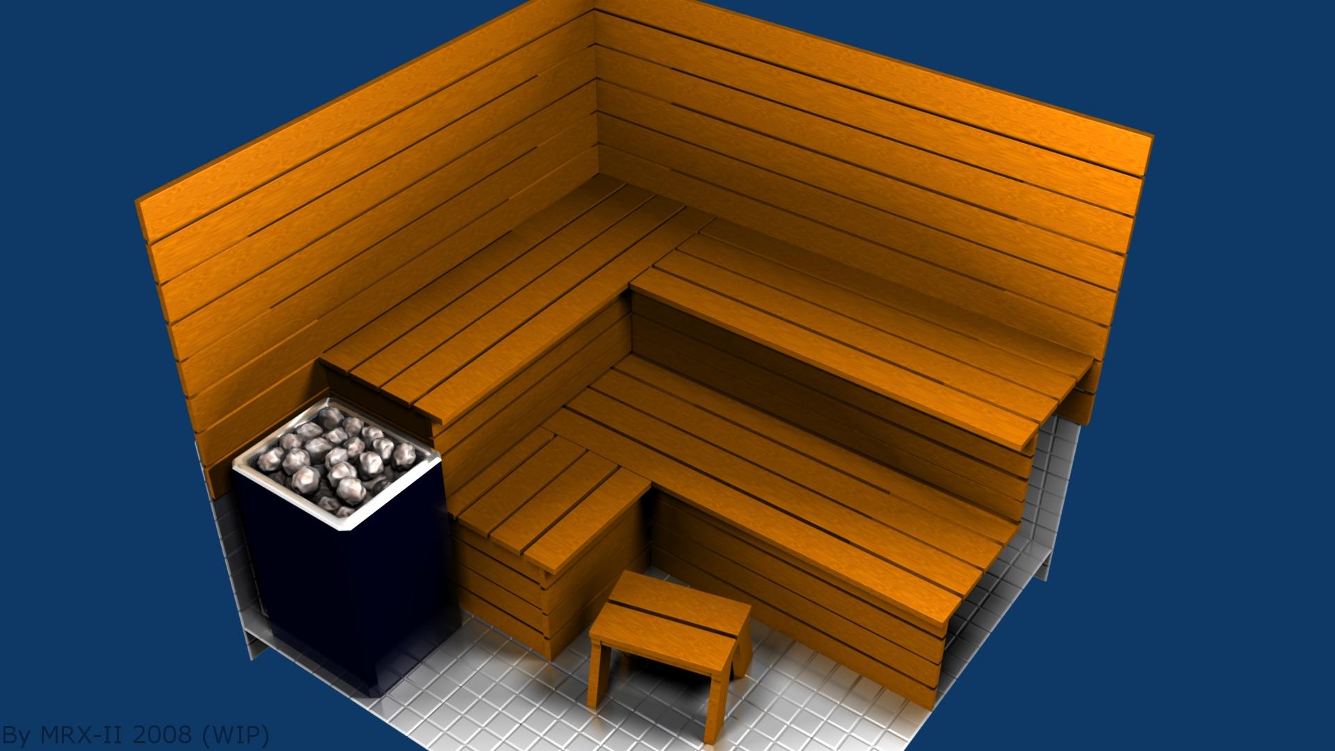 sauna 3d wip by mrx ii on deviantart. Black Bedroom Furniture Sets. Home Design Ideas