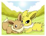 Jolteon and Eevee