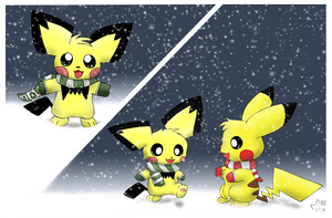 Pichu's First Snow by pichu90