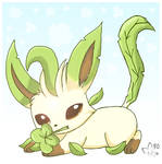 St Patrick's Day Leafeon