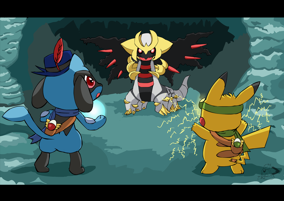 Team Rising Sparks vs Giratina by pichu90