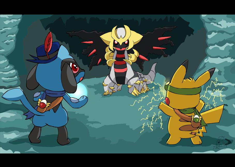 Team Rising Sparks vs Giratina by pichu90