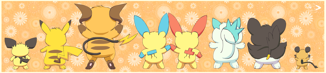 Electric rodent family by pichu90
