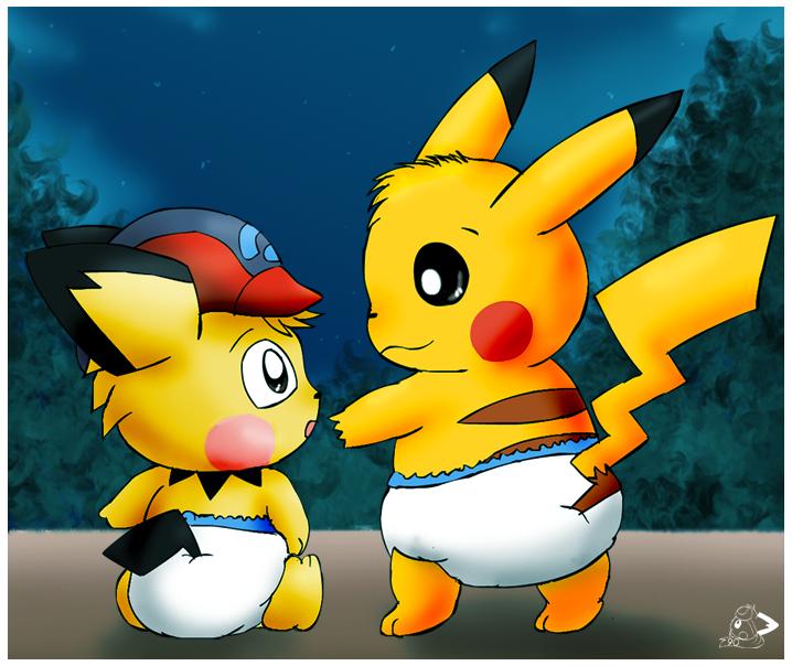 Cute baby pikachu - photo#13