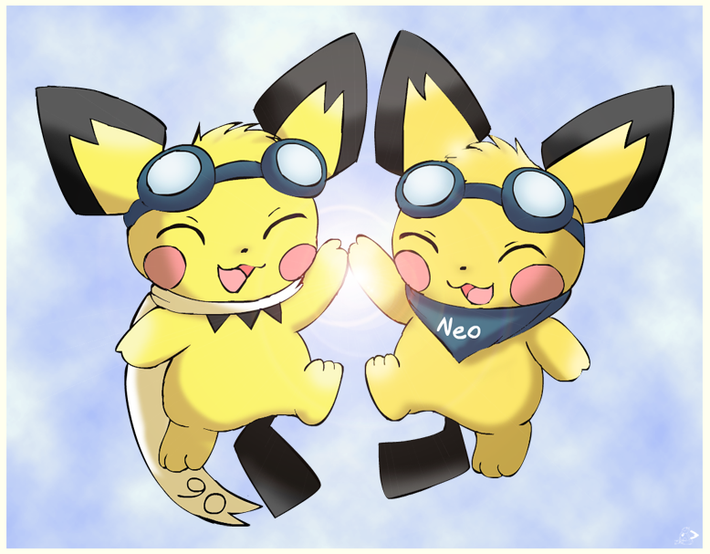 Pichu twins are back! by pichu90