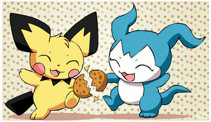 Pichu and Demiveemon