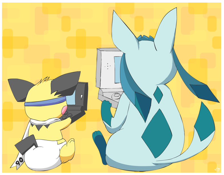 Sparks vs Glacey by pichu90