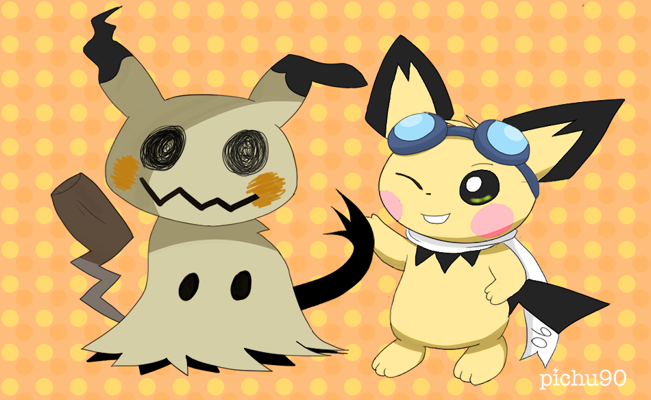 Sparks meets Mimikyu by pichu90