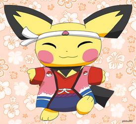 Kimono Pichu by pichu90
