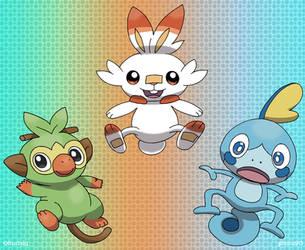 Pokemon Galar Starters by pichu90