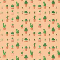 Cactus and Succulent Pattern