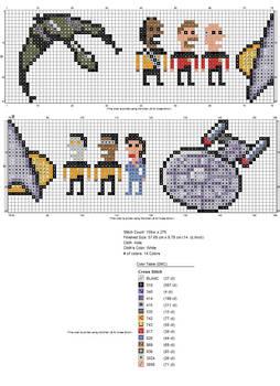 Chart for the Star Trek towel