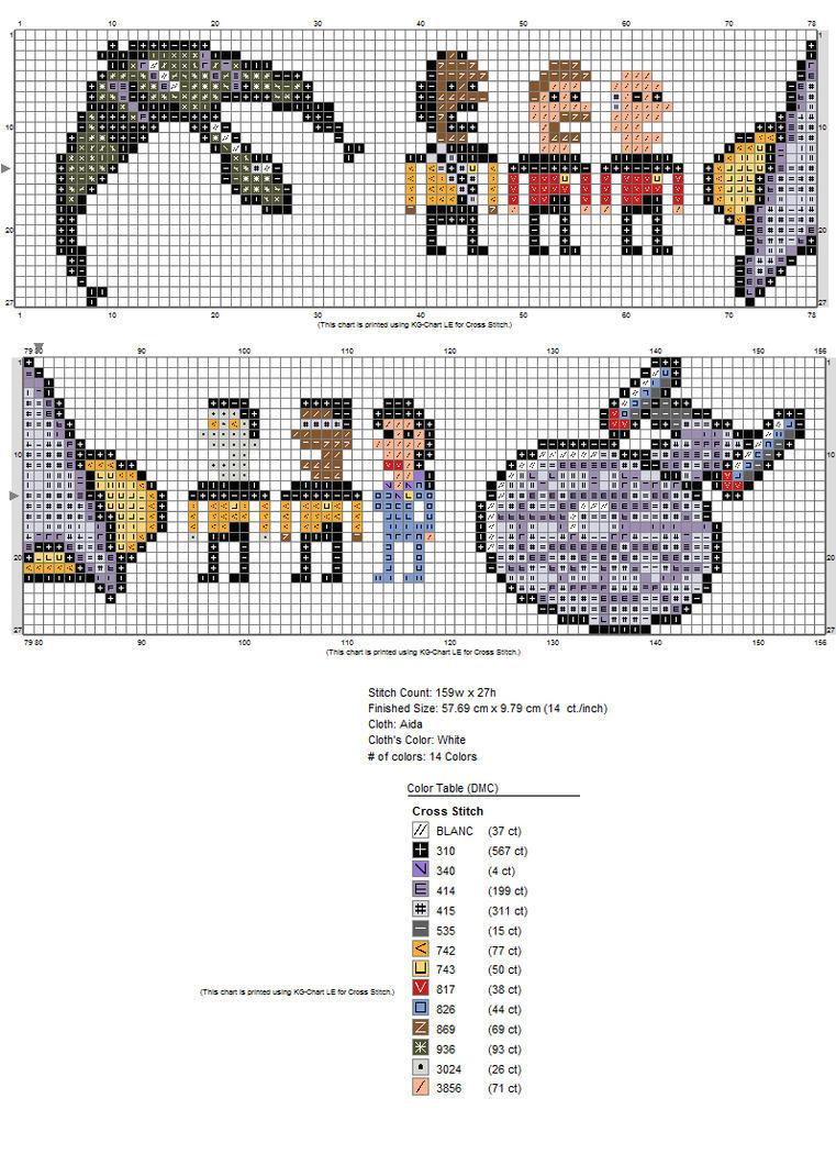 Chart for the Star Trek towel by starrley