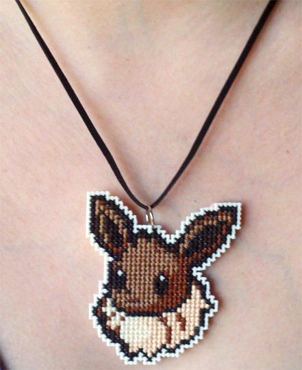 Eevee stitched necklace by starrley
