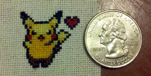 The Tiniest Stitched Pikachu