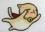 Super Flying Kitty cross stitch
