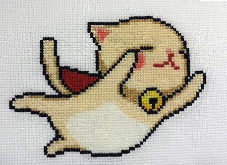 Super Flying Kitty cross stitch by starrley