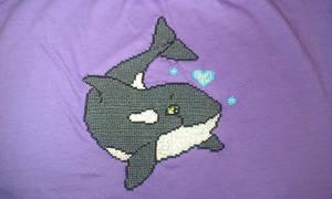 Orca Cross Stitch shirt
