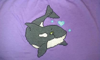 Orca Cross Stitch shirt by starrley