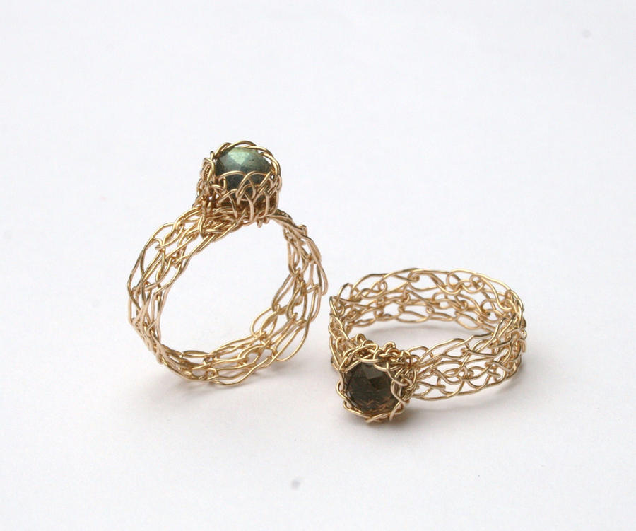 handmade wire crochet rings by wrappedbydesign on deviantart
