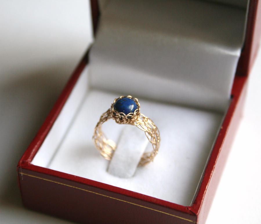 Lapis Lazuli in Gold by WrappedbyDesign