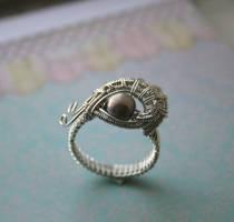 Evil Eye Ring Handmade by WrappedbyDesign