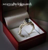 Sterling Silver Wire Wrapped Ring by WrappedbyDesign