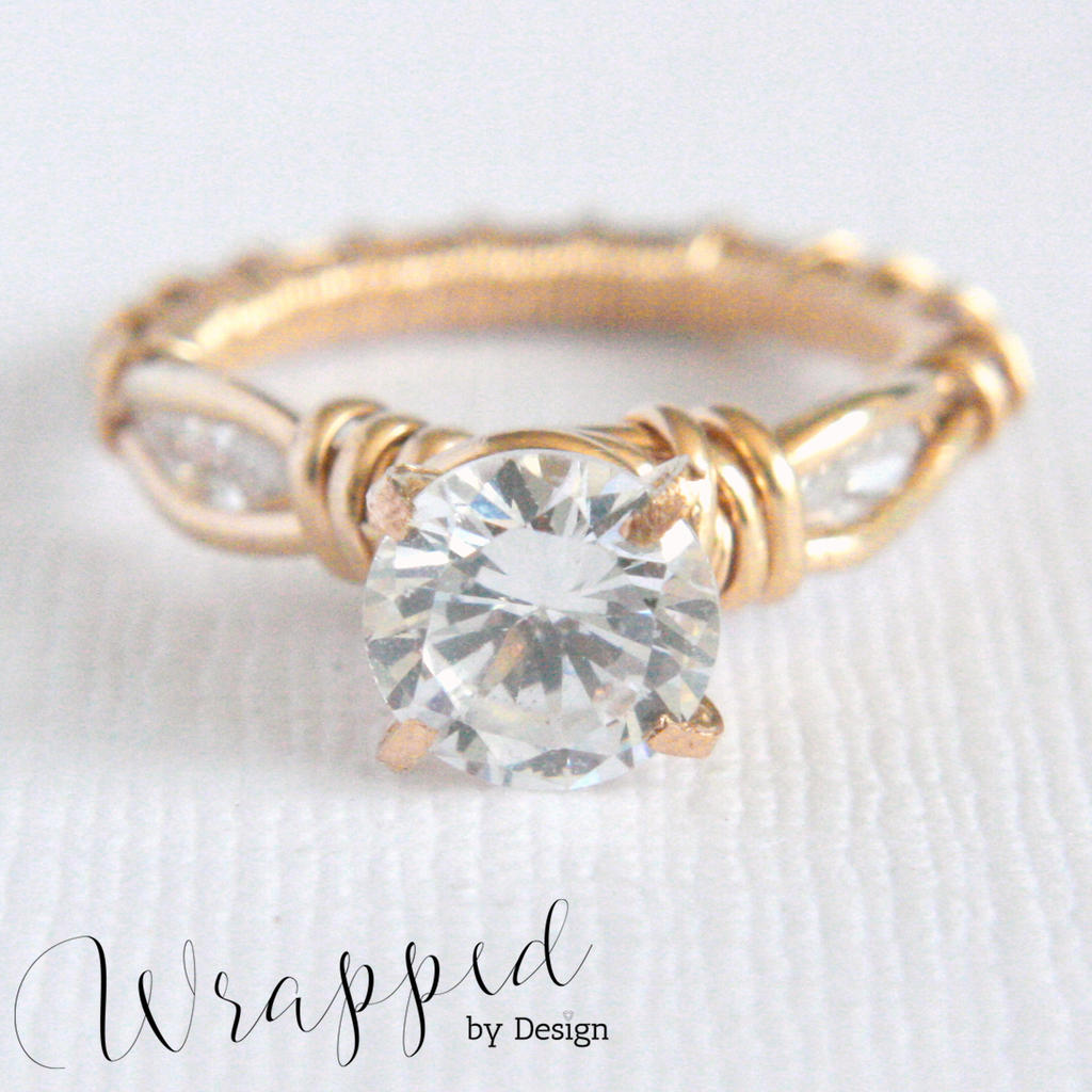 3 Stone Wire Wrapped Ring by WrappedbyDesign on DeviantArt