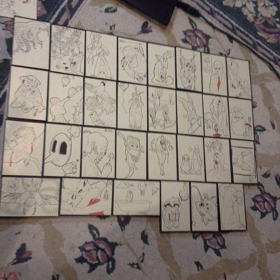 30 4x6 drawings by LadyRavenShadow
