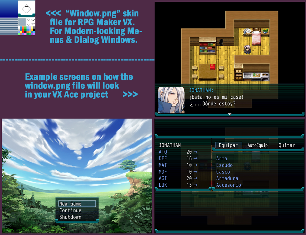 window * Sys file for RPG Maker VXAce + Examples by bang-bunny on ...