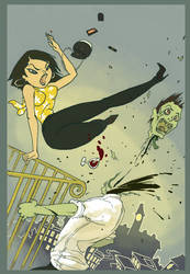 Zombie slayer-Coloured by Mikadze
