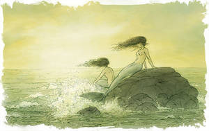 Two Mermaids by Mikadze