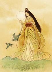 Amaterasu - Shinto Goddess by Mikadze