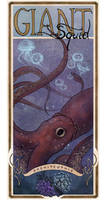 Giant Squid poster by Mikadze