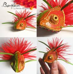 Miniature Chameleon Masquerade Mask