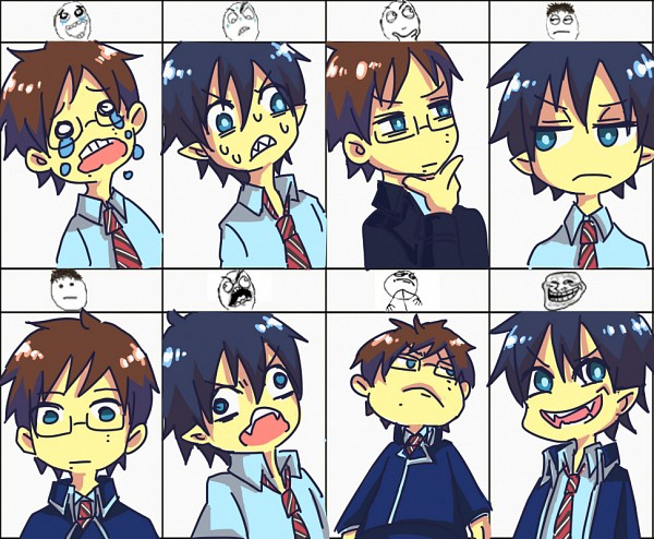Yukio and Rin memes :D by kakashifanchiyo