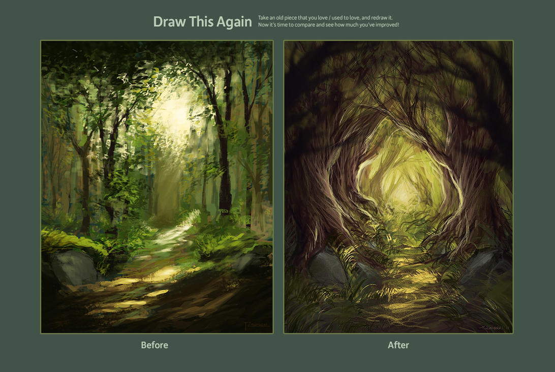 Draw This Again Contest - Forest Path by grrroch