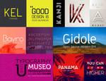 Elegant cool minimalist fonts for your logo