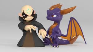 Kaos and Spyro