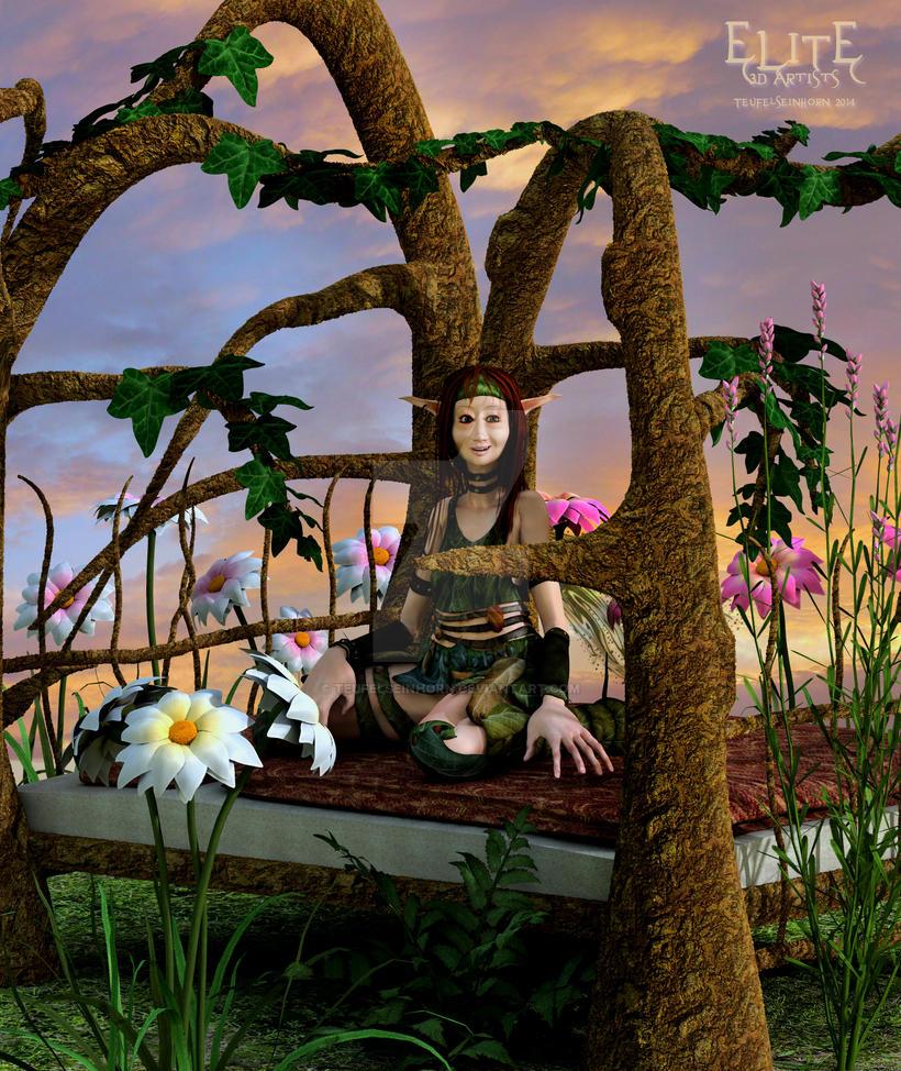 Wood dreams by teufelseinhorn on deviantart - The hideout in the woods an artists dream ...