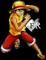 Monkey D. Luffy render by Ferdiferrah