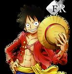 Monkey D. Luffy render 2 by Ferdiferrah