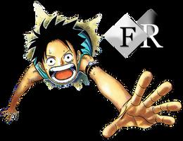 Monkey D. Luffy render 3 by Ferdiferrah