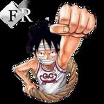 Monkey D. Luffy render 4