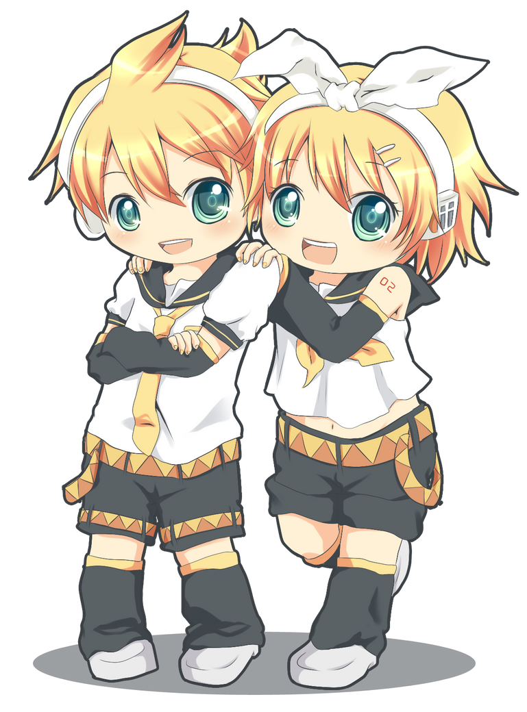 VOCALOID : Len Rin chibi by Pluvias on DeviantArt